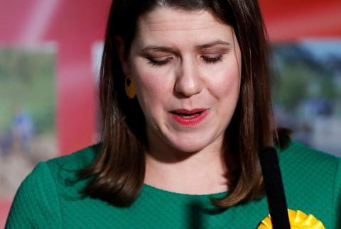 La hasta ahora líder liberaldemócrata Jo Swinson