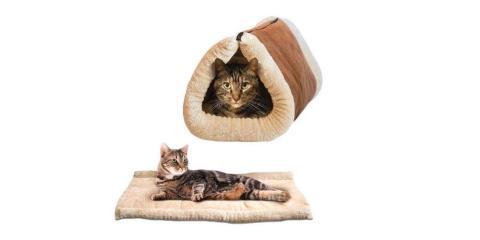 Mejor cama para gatos 2 en 1 tipo estera y cueva