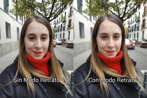 Modo Retrato Selfie LG G8X