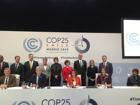 Nancy Pelosi en la COP25.