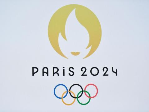 El logo de los Juegos Olímpicos de verano 2024 en París.
