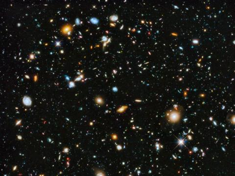 Nine years' worth of observations by the Hubble Space Telescope revealed about 10,000 galaxies in one of the deepest, darkest patches of night sky in the universe.