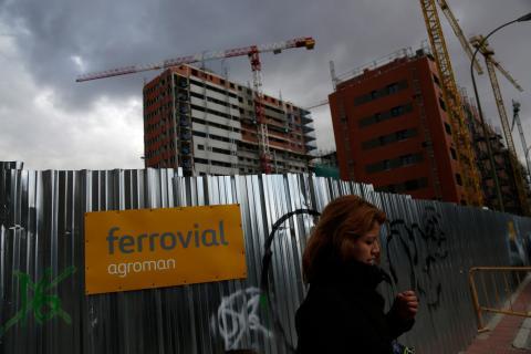 Una obra de construcción inmobiliaria de Ferrovial en Madrid