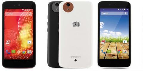 Teléfonos de la gama Android One.