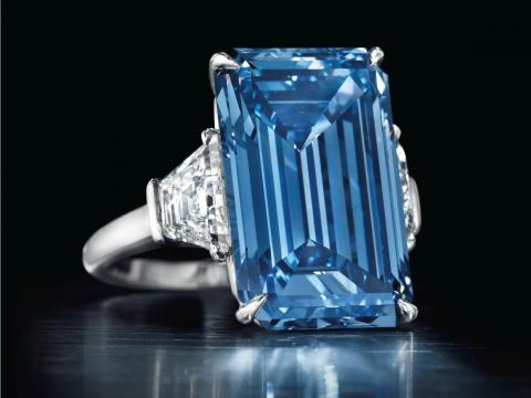 El diamante Oppenheimer Blue.