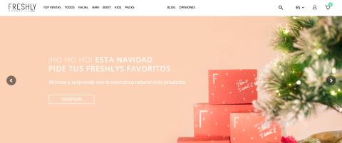 Página web de Freshly Cosmetics.