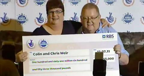 La pareja que más dinero ha ganado con un premio de lotería en Reino Unido.