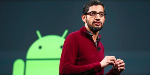 Pichai asumió la división de Android en 2013.