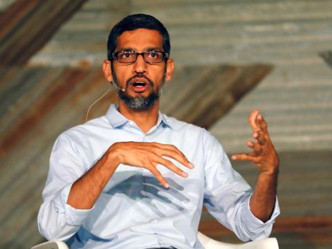 Sundar Pichai en una conferencia.