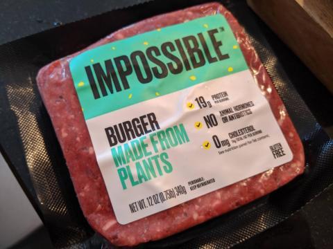 La empresa de alimentos de origen vegetal Impossible Foods está actualmente valorada en 4.000 millones de dólares