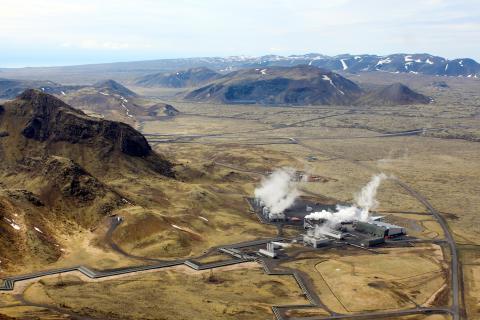 Una planta geotérmica en Islandia