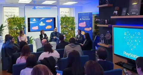 Miembros de PlayStation España durante la presenta su Memoria de actividades de Responsabilidad Social Corporativa 2019