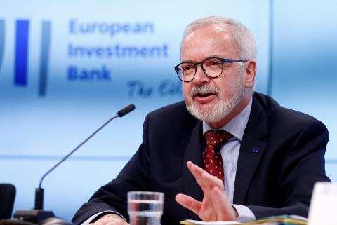 El presidente del Banco Europeo de Inversiones (BEI), Werner Hoyer.