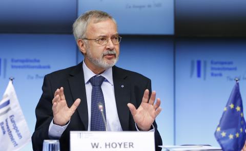 El presidente del BEI, Werner Hoyer