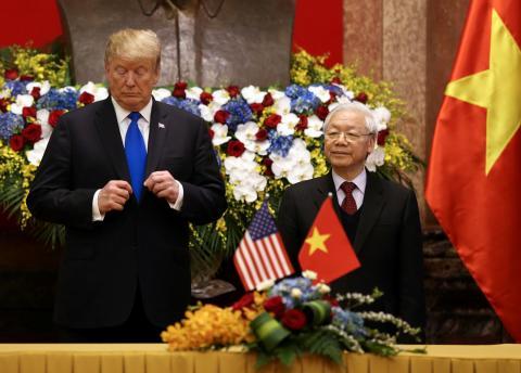 El presidente de EE.UU., Donald Trump, y su homólogo vietnamita Nguyễn Phú Trọng