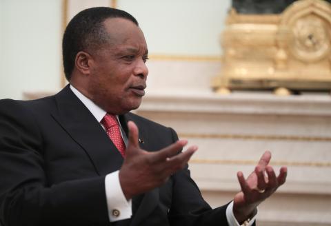 El presidente de la República del Congo, Denis Sassou Nguesso