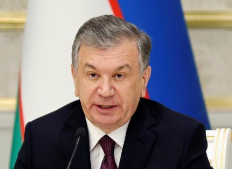 El presidente uzbeco, Shavkat Mirziyoyev