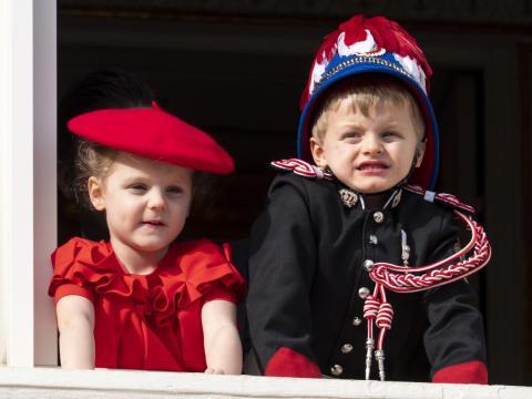 Príncipe Jacques y princesa Gabriella.