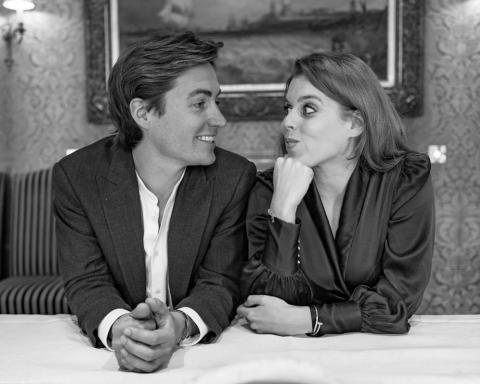 Edoardo Mapelli Mozzi y la princesa Beatriz.