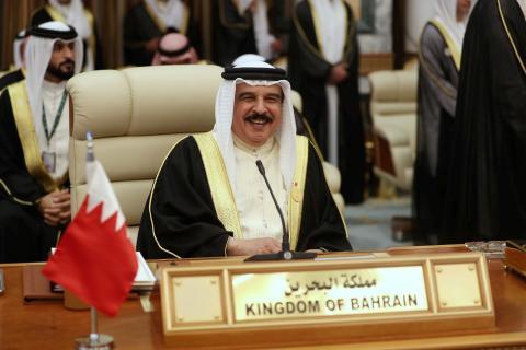 El rey de Baréin, Hamad bin Isa al Jalifa