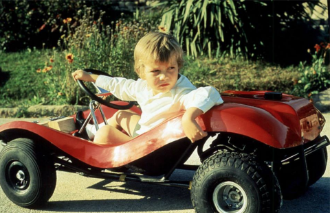 El rey Felipe VI en su infancia.