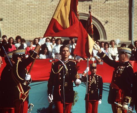 El rey en su graduación militar