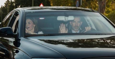 Los reyes, en el Audi A8
