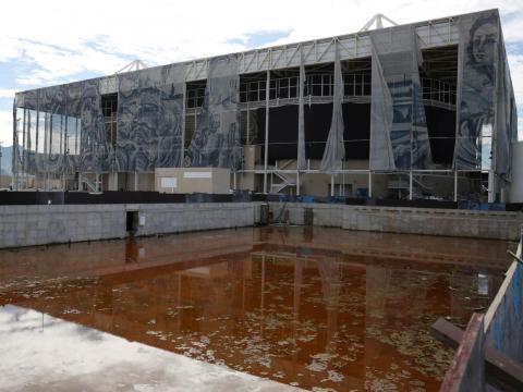La piscina olímpica abandonada en Río.