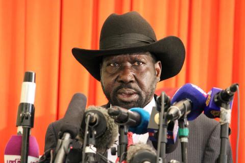 Salva Kiir, presidente sursudanés