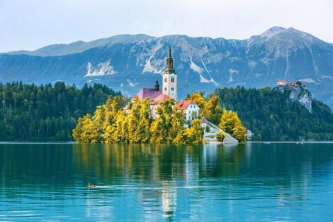El lago Bled en Eslovenia es un espectáculo mágico.