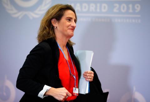 Teresa Ribera, ministra en funciones para la Transición Ecológica.