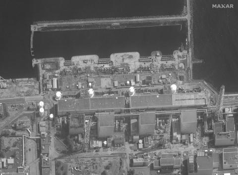 The Fukushima power plant moments before the explosion on March 14, 2011.