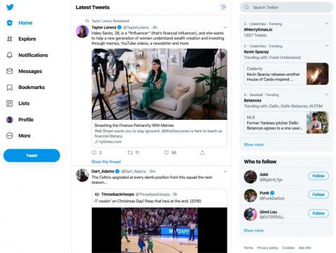 Twitter, 2019