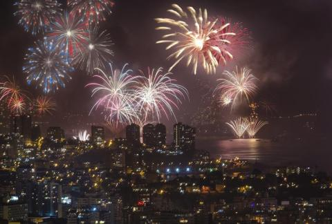 Valparaíso, Chile, tiene una de las mejores celebraciones de Año Nuevo del mundo.