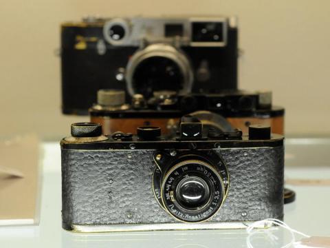 El raro modelo de cámara Leica.