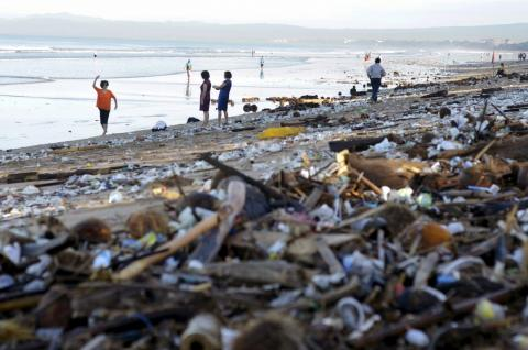 More visitors to Bali means more garbage, too.