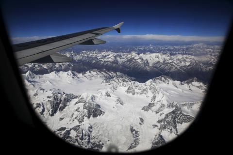 vista de la nieve desde el avión
