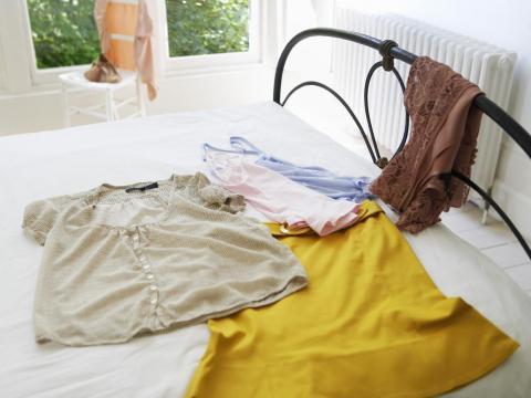 A menudo no hay necesidad de apresurarse y armar los trajes justo antes de salir.