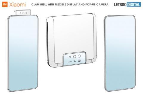 Xiaomi patenta un nuevo modelo de smartphone plegable.