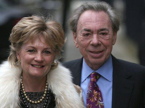 Lord Andrew Lloyd Webber con su esposa Madeleine Gurdon.