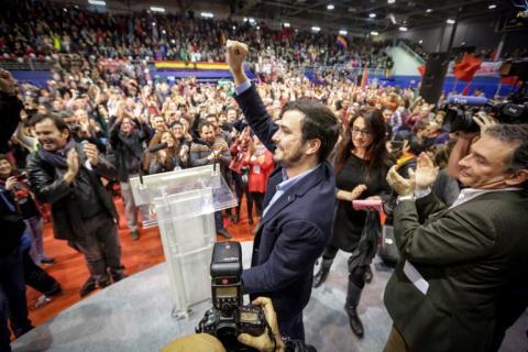 Alberto Garzón en el cierre de campaña de Izquierda Unida (2015)