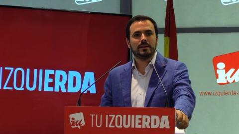 Alberto Garzón en un mitin de Izquierda Unida.