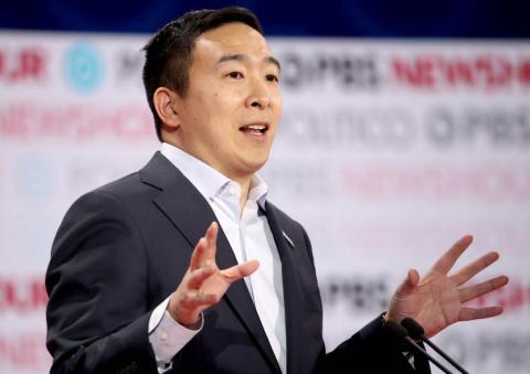 Andrew Yang, el candidato presidencial demócrata.