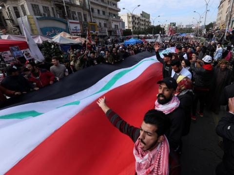 Anti-government protests have been ongoing in Iraq since October 2019, when the government enforced internet blackouts.