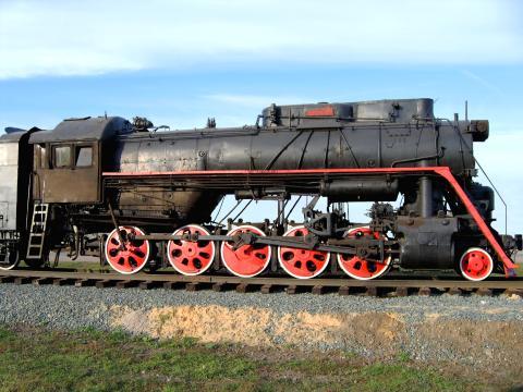 Antigua locomotora.