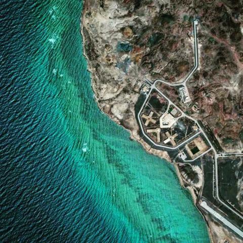 Arzanah Island off the coast of Abu Dhabi, United Arab Emirates.