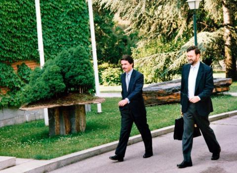 Aznar y Rajoy en su segundo Gobierno.