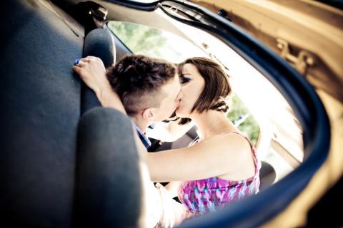 beso coche