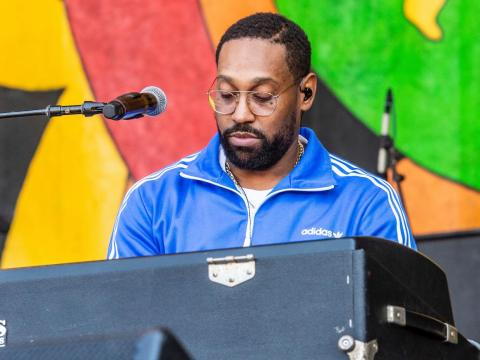 PJ Morton performing in April.
