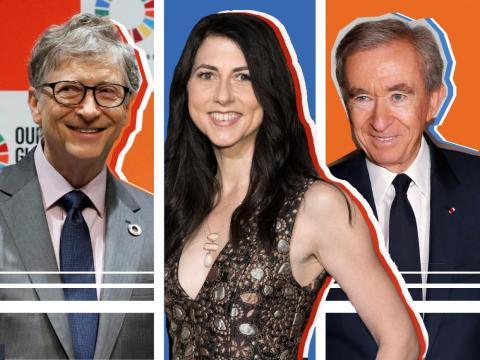Bill Gates, MacKenzie Bezos y Bernard Arnault sumaron individualmente más de 20.000 millones de dólares a su fortuna en 2019